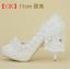 รองเท้าเจ้าสาวสีขาว ไซต์ 34-40 สูง 5.6 / 4.4 / 3.2 นิ้ว thumbnail 3
