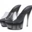 รองเท้าส้นแก้วใสเล่นระดับสีด้านในส้นแต่งเกร็ดเพชรสีแดง/ดำ/ขาว ไซต์ 34-40 thumbnail 11