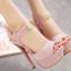 รองเท้าส้นสูงสีชมพู/เทา ไซต์ 34-39 thumbnail 7