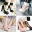รองเท้าส้นสูงคัดชูสีชมพู/ดำ/ขาว ไซต์ 34-43 thumbnail 1