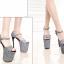 รองเท้าส้นสูง 7.6 นิ้ว สีน้ำเงิน/เทา ไซต์ 34-43 thumbnail 3