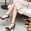 รองเท้าส้นสูงปลายแหลมสีขาว/ดำ ไซต์ 35-40 thumbnail 5