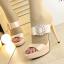 รองเท้าส้นสูงแบบสวยหรูสีดำ/ครีม ไซต์ 34-38 thumbnail 7