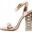 รองเท้าส้นสูงส้นหนาสีดำ/ทอง ไซต์ 34-40 thumbnail 7
