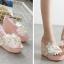 รองเท้าส้นเตารีดส้นติดกากเพชรแน่นๆสีเงิน/ทอง/ขาว/ชมพู ไซต์ 34-39 thumbnail 4