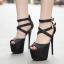 รองเท้าส้นสูงสีเงิน/ดำ ไซต์ 35-40 thumbnail 5