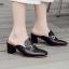 รองเท้าส้นสูง ไซต์ 35-39 มี 2 รุ่น ดำ/ครีม และ ดำ/เขียว thumbnail 2
