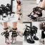 รองเท้าส้นสูงสีดำ/ดำ-ขาว ไซต์ 34-39 thumbnail 1