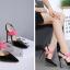 รองเท้าส้นสูง ไซต์ 35-40 สีดำ/แดง/ทอง/ครีม thumbnail 7