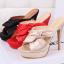รองเท้าส้นสูงแบบสวมสีชมพู/แดง/ดำ ไซต์ 34-39 thumbnail 10