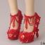 รองเท้าเจ้าสาวสีแดง ไซต์ 34-39 ความสูง 5-14 CM thumbnail 1