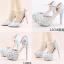 รองเท้าเจ้าสาว ไซต์ 34-39 สีฟ้า สูง 3.6 / 4.8 / 5.6 นิ้ว thumbnail 1