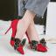 รองเท้าส้นสูงคัดชูปลายแหลมสีแดง/ดำ/เทา/น้ำตาล ไซต์ 34-39 thumbnail 3
