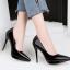 รองเท้าตัดชูปลายแหลมทรงสวยสีดำ/แดง/เทา/นู๊ด ไซต์ 34-39 thumbnail 9