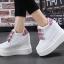 รองเท้าผ้าใบเสริมส้นสีชมพู/ดำ/เงิน ไซต์ 35-39 thumbnail 6
