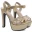รองเท้าส้นสูงแต่งผ้าลูกไม้สวยสีเงิน/ทอง ไซต์ 34-39 thumbnail 5