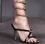 รองเท้าส้นสูงแบบสวมสวยเก๋สีดำ ไซต์ 34-39 thumbnail 7