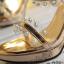 รองเท้าส้นสูงแบบสวมสีทอง/เงิน ไซต์ 34-39 thumbnail 6