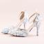 รองเท้าเจ้าสาว ไซต์ 34-39 สีฟ้า สูง 3.6 / 4.8 / 5.6 นิ้ว thumbnail 2