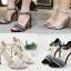 รองเท้าส้นสูงสีดำ/ครีม ไซต์ 35-42 thumbnail 1