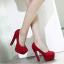 รองเท้าส้นสูงสีแดง/ดำ ไซต์ 35-39 thumbnail 4