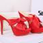 รองเท้าส้นสูงแบบสวมสีชมพู/แดง/ดำ ไซต์ 34-39 thumbnail 9
