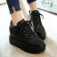 รองเท้าผ้าใบเสริมส้น ไซต์ 34-43 สีขาว/ดำ/ครีม thumbnail 6