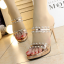 รองเท้าส้นสูงแบบสวมสีทอง/เงิน ไซต์ 34-39 thumbnail 5