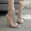รองเท้าส้นสูงสีเงินประดับคลิสตัล ไซต์ 35-40 thumbnail 1