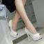 รองเท้าส้นสูง ไซต์ 34-39 สีดำ/ขาว thumbnail 5