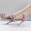 รองเท้าส้นสูงแต่งดอกไม้สีชมพู/ดำ/ขาว ไซต์ 34-39 thumbnail 7