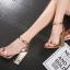 รองเท้าส้นสูงส้นหนาสีดำ/ทอง ไซต์ 34-40 thumbnail 3