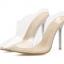 รองเท้าส้นสูงแบบสวมปลายแหลมพลาสติกใส ไซต์ 35-40 thumbnail 4