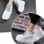 รองเท้าผ้าใบเสริมส้นสีชมพู/ดำ/เงิน ไซต์ 35-39 thumbnail 3