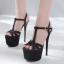 รองเท้าส้นสูงสีดำ/ทอง/เงิน ไซต์ 34-40 thumbnail 17