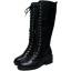 รองเท้าบูทส้นเตี้ยยาวถึงเข่าสีดำ ไซต์ 34-39 thumbnail 3