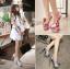 รองเท้าส้นสูง ไซต์ 34-43 สีดำ/ขาว/แดง thumbnail 1