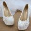 รองเท้าเจ้าสาวสีขาว ไซต์ 34-40 สูง 5.6 / 4.4 / 3.2 นิ้ว thumbnail 5