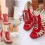 รองเท้าส้นสูงสีแดง/ดำ ไซต์ 35-40 thumbnail 4