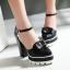 รองเท้าส้นสูงสีแดง/ครีม/ขาว/ดำ ไซต์ 34-39 thumbnail 9