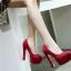 รองเท้าส้นสูงสีแดง/ดำ ไซต์ 35-39 thumbnail 2