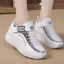 รองเท้าผ้าใบเสริมส้นสีขาว/ดำ ไซต์ 35-39 thumbnail 3