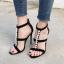 รองเท้าส้นสูงสายถักเปียสีดำ/แอพพริคอท ไซต์ 35-40 thumbnail 2