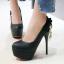 รองเท้าส้นสูงคัดชูสีฟ้า/ชมพู/ครีม/ดำ ไซต์ 34-43 thumbnail 4