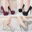 รองเท้าส้นส้นสูงคัดชูสีแดง/ดำ/เงิน/ทอง/เทา ไซต์ 34-39 thumbnail 1