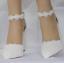 รองเท้าเจ้าสาวส้นหนาปลายแหลมสีขาว ไซต์ 36-41 thumbnail 2