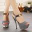 รองเท้าส้นสูงสีชมพู/เทา ไซต์ 34-39 thumbnail 3