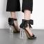 รองเท้าแฟชั่น ไซต์ 35-40 สีดำ/ทอง thumbnail 3