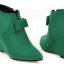 รองเท้าส้นเตารีดปลายแหลมสีชมพู/ดำ/เขียว ไซต์ 34-43 thumbnail 6