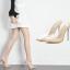 รองเท้าส้นสูงแบบสวมปลายแหลมพลาสติกใส ไซต์ 35-40 thumbnail 1